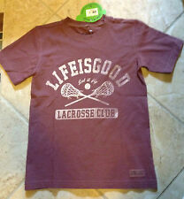 Life is Good Boys Crusher T-Shirts Football or Lacrosse New with Tags NWT $16