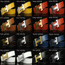 "Unisex Hot sell Fashion chic 14 color Leather ""H""Buckle Waist Belt Waistband"