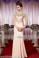 New Style Fashion Simple Perfect Sweet Shiny Pink Party/Wedding Long Dress