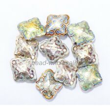 Hot Great Equisite Rhombus Cloisonne Beads Spacer Various 20pcs