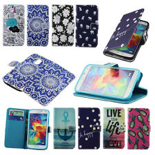 Pretty Stand Soft Wallet Flip Leather Case Cover For Samsung Galaxy S5 SV i9600