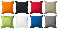 "IKEA GURLI DECORATIVE PILLOW 100% COTTON CUSHION COVERS 20"" x 20"" EIGHT COLORS"
