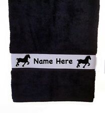 Belgian Draft Horse Bath Towel Personalized w/Your Horse's Name-Choice of Colors