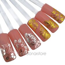3D Silver/Gold Nail Art Stickers Decals Hot Stamping Nail Tips Decoration Tool