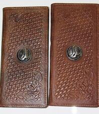 Mens Or Ladies Montana West  Leather Boot and Lasso Checkbook Wallet