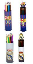 OFFICAL FOOTBALL TEAM - 15 COLOURING PENCILS IN TIN SCHOOL DRAWING KIDS GIFT NEW
