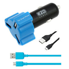 EZOPower 3-Port LED USB Car Charger+Cable For Motorola HTC Samsung Cell Phone
