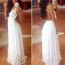 Women Summer Bandage BodyCon Lace Evening Sexy Party Cocktail Long Maix Dress