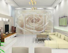 XXL Window Mural Pretty White Rose  Roses Wedding Romance Love Flowers