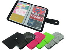 96 Slots Felt Credit Business ID Card Holder Bifold Wallet