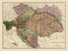 AUSTRIA-HUNGARY BY RAND MCNALLY 1895