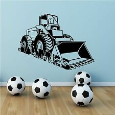 PERSONALISED DIGGER NAME BOYS WALL ART STICKER DECAL MURAL STENCIL VINYL PRINT