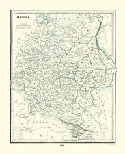 Old Russia Map - Rathbun 1893 - 23 x 28.32