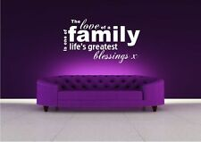 LOVE FAMILY LIFE WALL ART WALL QUOTE STICKER DECAL MURAL STENCIL VINYL PRINT