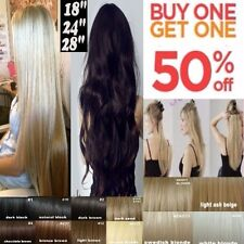 clip in hair extensions best quality cheap price half full head heat resistant