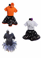 Halloween Sparkle Baby Grow Neon Pink Tutu Set 80's Fancy Dress Girls Toddler +