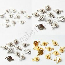 Wholesale 50Pcs Snaps Chunk Button For Bracelet Necklace Jewelry Findings 14x7mm