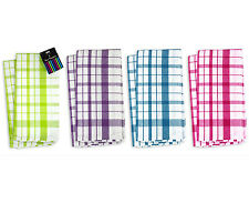 """Brights"" Pack of 2 100% Cotton Tea Towels Perfect to Clean up Everyday Spills"
