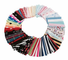 Bundle Mixed Pack Craft Fabric Material Sewing Patchwork Quilting Squares Scraps