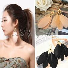 Fashion Vintage Bohemia Charm Party Handmade Drop Dangle Long Feather Earrings