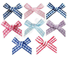 7mm Gingham Ribbon Bows 7 Colours to Choose - Free UK Post