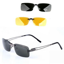 New Fashion Polarized Clip on wear over sunglass glasses eyeglass For driving