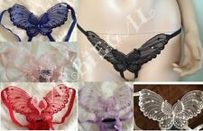 SEXY PLUS QUEEN SIZE SHEER BUTTERFLY THONG~CROTCHLESS PANTY~G-STRING~XL~APPLIQUE