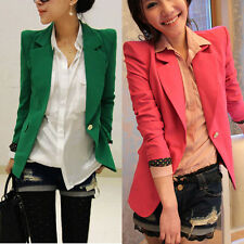 Fashion Long Sleeve One Button Slim Casual Women Blazer Suit Jacket Coat Outwear