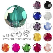 72Pcs 8mm Fat Round Faceted Glass Rondelle DIY Crystal Beads For Swarovski Charm