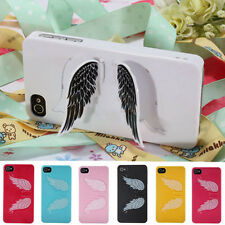 3D Cute Angel Wings Hard Back Case Cover Stand Holder For Apple iPhone 4 4S 4th
