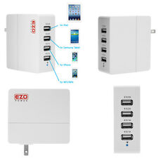 EZOPower 6A 4-Port USB Wall Travel Charger Adapter For iPhone Cell Phone Tablet