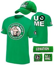 John Cena Kids Green Costume Hat T-shirt Wristbands Boys