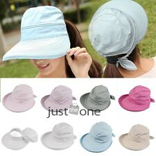2014 New Women's Anti-UV Wide Big Brim Bowknot Summer Beach Sun Foldable Cap Hat