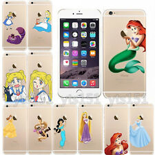 Cute Princess Cartoon Transparent Case Cover For Apple iPhone 5S 4S 5C 6