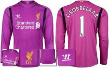 *14 / 15 - WARRIOR ; LIVERPOOL HOME GK SHIRT LS / GROBBELAAR 1 = KIDS SIZE*