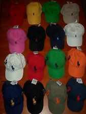POLO RALPH LAUREN BASEBALL HATS PONY ONE SIZE ADJUSTABLE STRAP  ASSORTED NWT!!