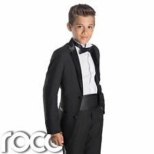 Boys Black Tuxedo, Boys Dinner Suit, Prom Suits, Boys Wedding Suits, Page Boy