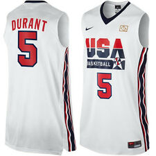 Kevin Durant #5 USA Dream Team White Home Swingman Throwback Men Adult Jersey