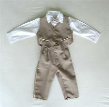 BABY BOY OUTFIT, Brown Special Occasion Suit, Wedding, Christening, Age 0-3 Yrs