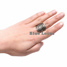Tibetan Silver Handmade Filigree Work Thumb Ring Adjust