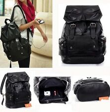 Stylish Men's *Soft Pu Leather Casual *Backpack Shoulders Bookbag Satchel New