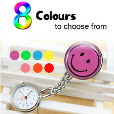 Unisex Smile Nurse Watch Portable Pocket Stainless Steel watch 8 Colors