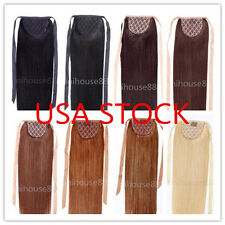 USA STOCK! 20 inch ponytail clip in human hair extensions 100g,3-5 days delivery