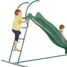 Garden Games Jumbo Wavy Slide and Steps with Water Slide Nozzle in Pink or Green