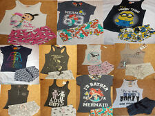 LADIES PYJAMAS Vest or T Shirt Top & Shorts Set 6-20 Primark