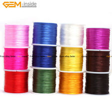 60 Yards 1mm Elastic Stretch Crystal String Beading Thread Spool Cord Roll