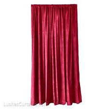 Burgundy Studio Sound Reducing Energy Efficient Velvet Curtain 12ft H Long Panel