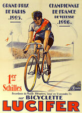 Vintage Lucifer French Bicycle Advert T Shirt. 13 Sizes. Bicycle Cycling Bike
