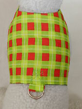 DOG CAT FERRET Custom Couture Harness~Red Green Christmas Festive Holiday Plaid