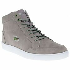 LACOSTE MENS PATEAUX SUEDE MID FASHION CASUAL TRAINERS STYLISH SNEAKERS LACED